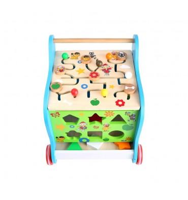 Base Toys Houten Loopwagen Zandmannetje