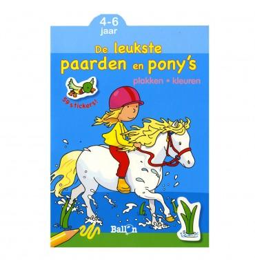 De leukste paarden en pony's plakken en kleuren 4-6 jaar