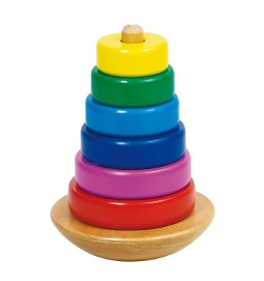 Goki Houten Stapeltoren Kleur 8 delig