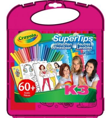 Crayola K3 Superpunt Tekenkoffer