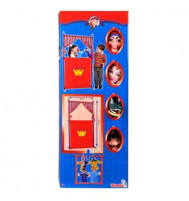 Poppen Theater met 4 Handpoppen