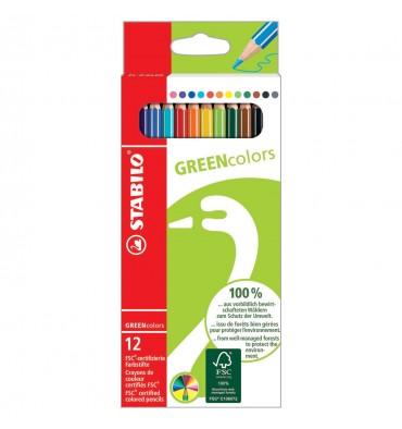 Stabilo greencolors kleurpotloden 12 stuks