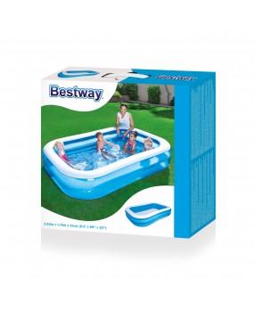 Bestway Zwembad, 2-rings Blauw 262 x 175 cm