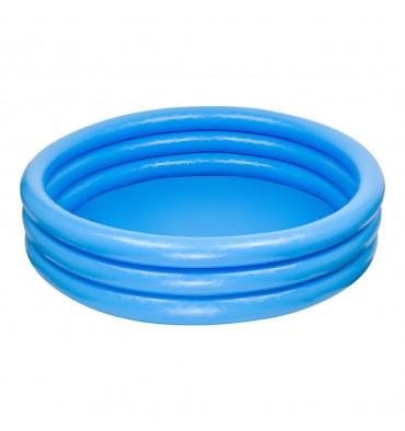 Intex opblaasbaar zwembad 3 rings blauw