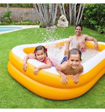Intex opblaasbaar zwembad oranje