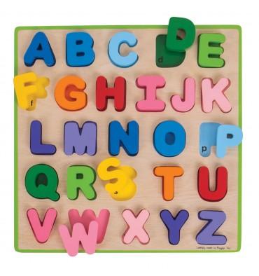 Bigjigs Houten Alfabet puzzel 26 delig