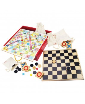 Bigjigs Houten Bordspellen 4in1