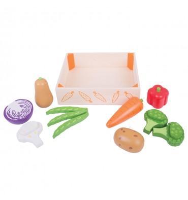 Bigjigs Houten Kistje met groenten