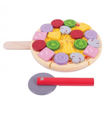Bigjigs Houten Pizza met Beleg