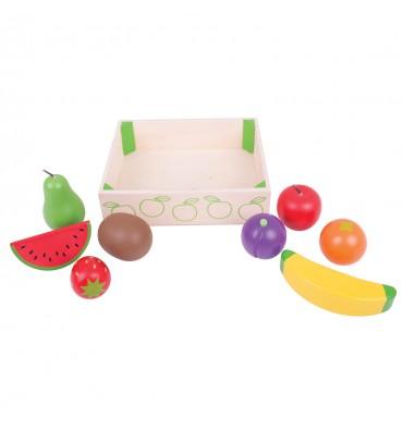 Bigjigs Houten kistje met fruit