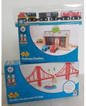 Bigjigs houten trein aanbiedingsset 2