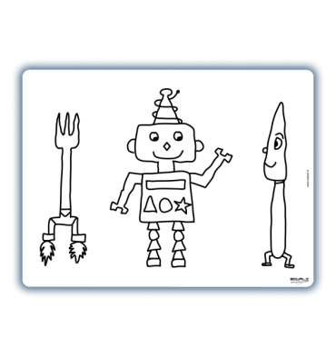 Edwali herkleurbare placemat robot slimpie