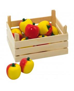 Goki Houten Appels in kist 10 delig