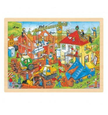 Goki Houten Puzzel De Bouwplaat 96 st.