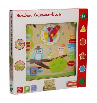 Houten Kalenderklok