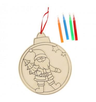 Kleur je eigen Houten Kersthanger, 27cm