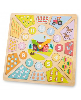 New Classic Toys Multi klokpuzzel