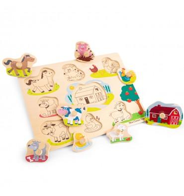 New Classic Toys Knoppuzzel boerderij