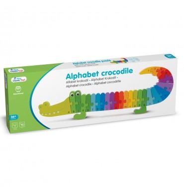 New Classic Toys alfabet puzzel krokodil
