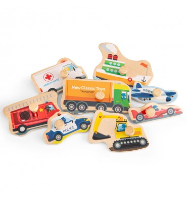 New Classic Toys Knoppuzzel voertuigen