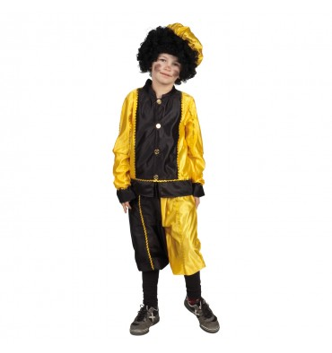 Sinterklaas Pieten Kostuum 7-9 Jaar Geel Zwart