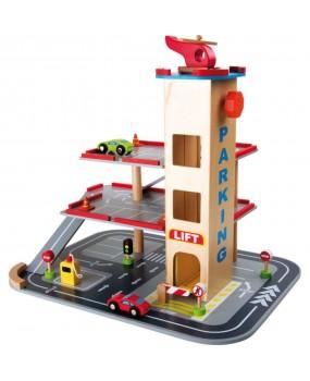 Base Toys Houten Parkeergarage Met Accessoires