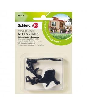Schleich Jumping Zadel + Teugel