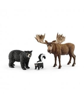 Schleich Noord-Amerikaanse Bosdieren