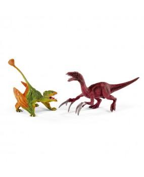 Schleich Klein Dimorphodon en Therizinosaurus