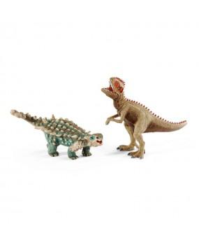 Schleich Klein Saichania en Giganotosaure