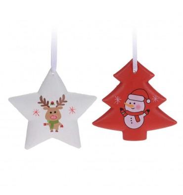Houten Kersthangers, 6st.