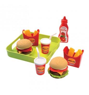 Ecoiffier 100% Chef Hamburgerset op Dienblad
