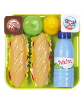 Ecoiffier 100% Chef Sandwich Set met Dienblad