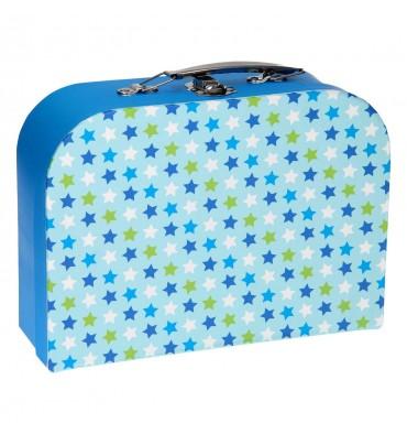 Koffertje met Slot - Sterren Blauw