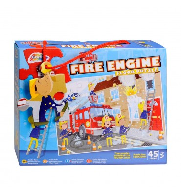 Vloerpuzzel Brandweerwagen