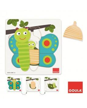 Goula Inlegpuzzel Vlinder, 7st.