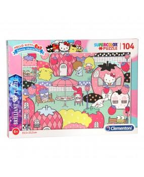 Clementoni Brilliant Puzzel Hello Kitty, 104st.