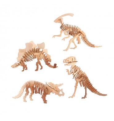 Houten Bouwpakket Dinosaurus 3D