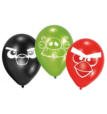 Angry Birds Ballonnen, 6 stuks
