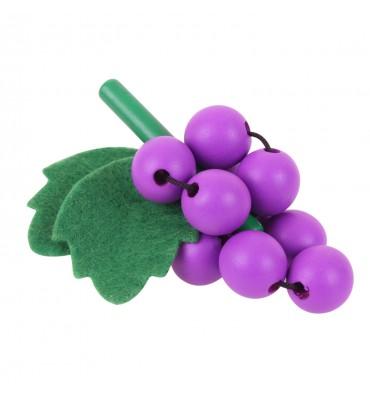 Houten Tros Druiven, per stuk