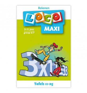 Maxi Loco - Tafels 11 - 25 Groep 6-7 (9-11 jr.)