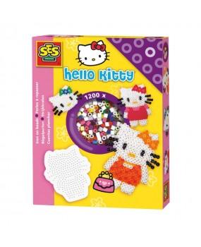 SES Hello Kitty Strijkkralen + Bordje