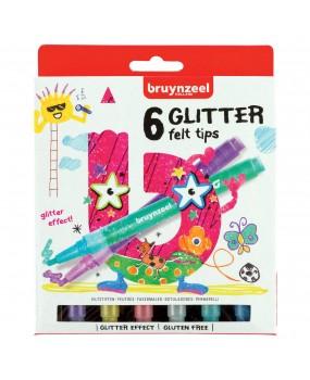 Bruynzeel Kids Glitter Viltstiften 6 stuks