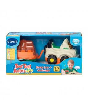 VTech Toet Toet Auto's - Jimmy Jeep + Aanhanger