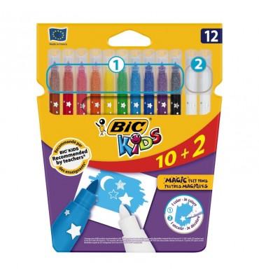 BIC Kids Kleuren & Uitwissen, 10 + 2 gratis