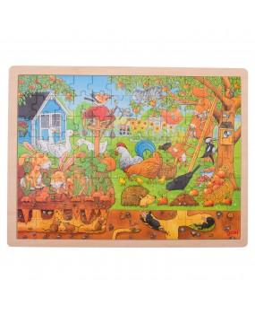 Goki Houten Legpuzzel - Leven in de Tuin