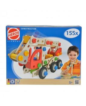 HEROS Constructor Brandweerwagen, 155dlg.