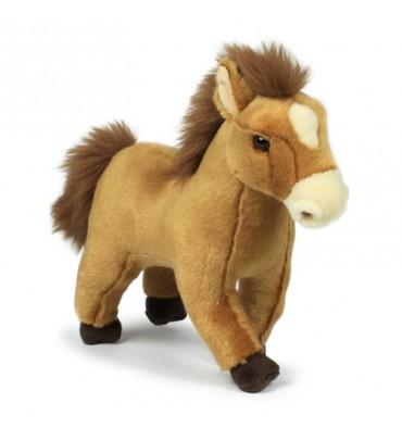WNF Pluche - Lichtbruin Paard, 23cm