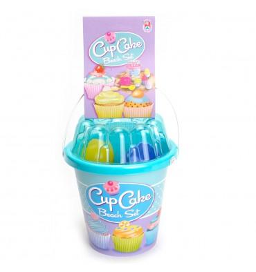 Cup Cake Strandset in Emmer Blauw