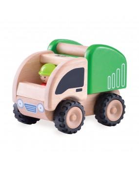 Wonderworld Houten Mini Vuilniswagen